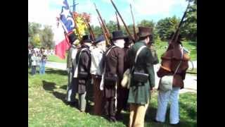 Volunteers drill at the Rebel encampment in Newmarket, Upper Canada - Rebellion of 1837
