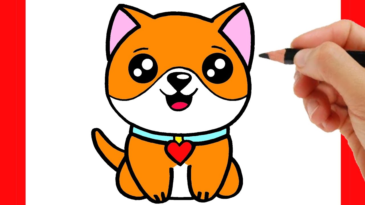 HOW TO DRAW A CUTE DOG EASY STEP BY STEP