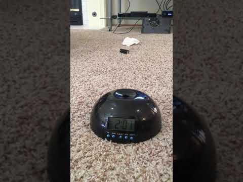 Flying Alarm Clock, Helicopter Alarm Clock. Test/demo