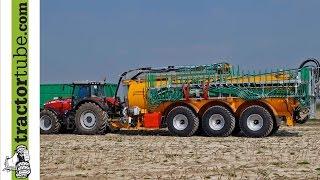 Veenhuis 3-Achser mit 30 m³ und 30 m Vogelsang - MF 8670 - erster Einsatz -Terhuf Agrarservice