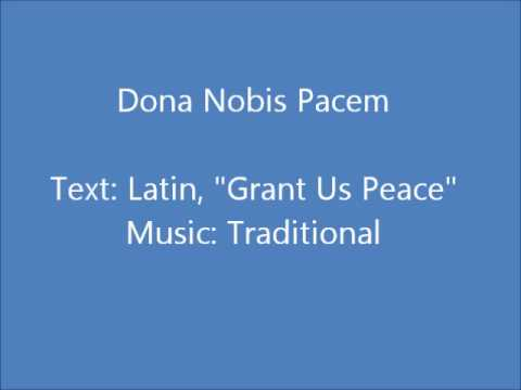 Dona Nobis Pacem - Traditional Canon