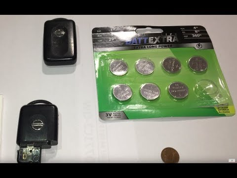 Nissan Micra key battery replacement - Nissan Micra