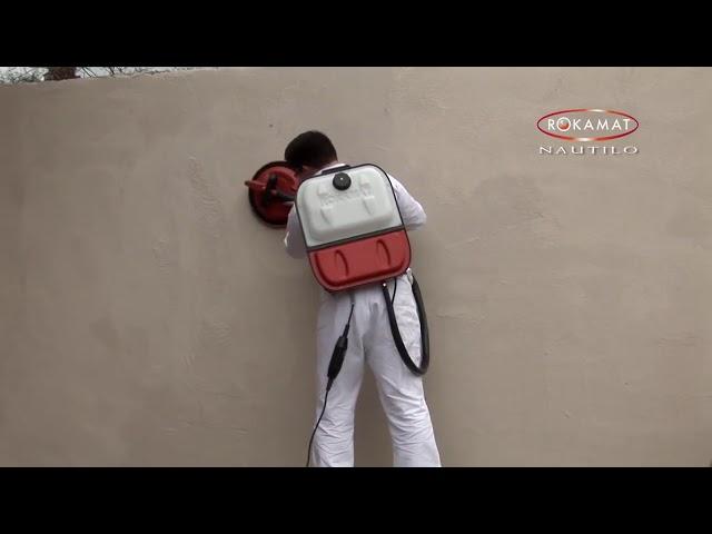 Finisare ipsos, tencuieli de ciment sau calcar ROKAMAT 'NAUTILO' Original Video