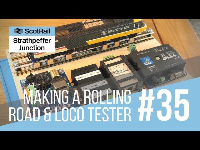 #35 Making a Model Loco Test Board (with Rolling Road, DCC Decoder Tester, LokProgrammer & SPROG)