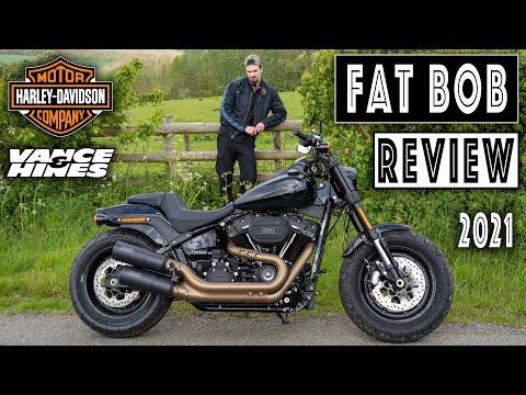 Harley-Davidson Fat Bob Review. 2021, 114 cruiser motorcycle with Vance & Hines Hi-Output Slipons