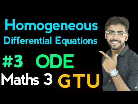 Homogeneous Differential Equation | Ordinary Differential Equations in Hindi | ODE #3