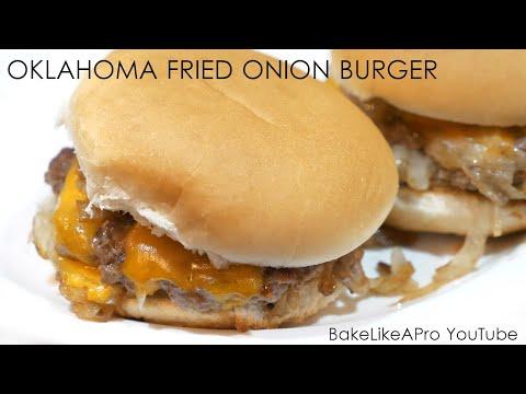 The OKLAHOMA Fried Onion Burger