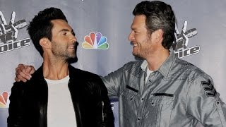 adam levine says blake shelton is still all mine sorry gwen stefani