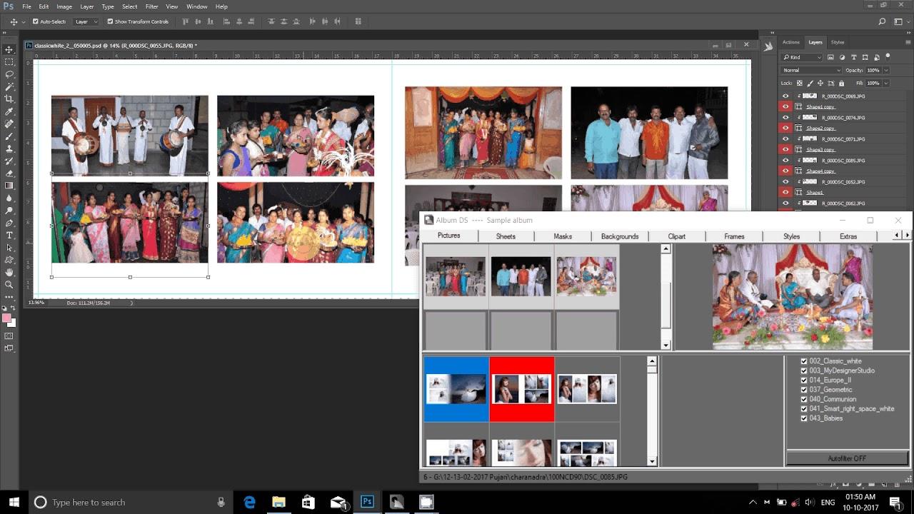 Adobe Photoshop Tutorialautomatic Album Designing Software Album Quicker 2 0 Hindi Youtube