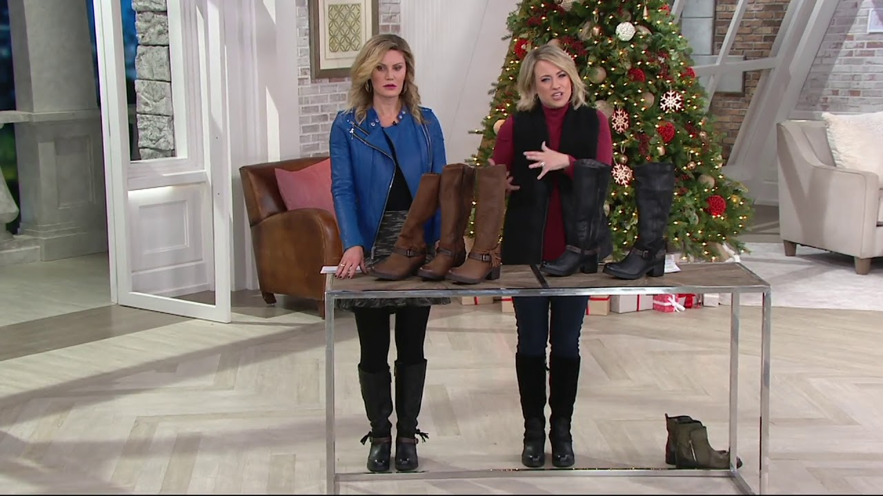 e94ad37b459 Miz Mooz Leather Tall Shaft Boots - Sugar on QVC