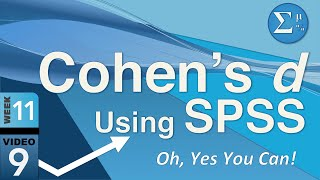11-9 Cohen's d in SPSS