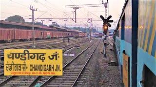 Train arriving at Chandigarh Railway Station - Indian Railways