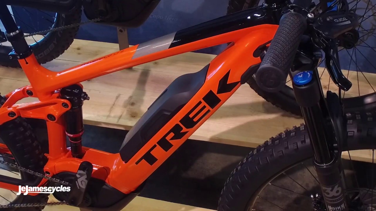 trek powerfly fs 9 lt electric mountain bike 2018 youtube. Black Bedroom Furniture Sets. Home Design Ideas
