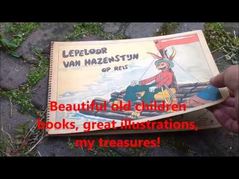 Dutch fleamarket treasures, antique  childrens books