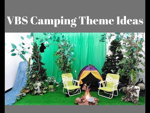 VBS Camping Theme Ideas / How to decorate VBS Camping Theme / Moose on the Loose VBS