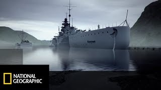 Do kamuflażu pancernika Niemcy używali sztucznej mgły! [Wielkie konstrukcje III Rzeszy]