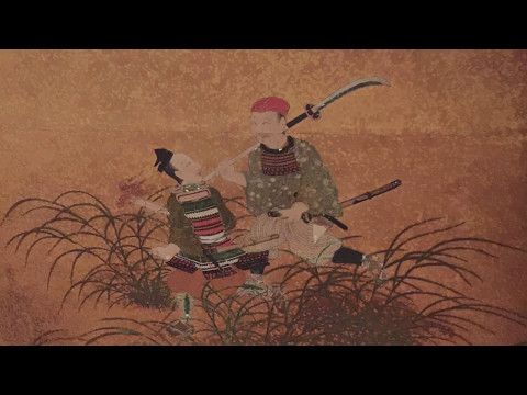 Weapons In Art:  Japanese Screen C. 1600