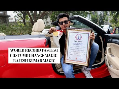 WORLD RECORD FASTEST COSTUME CHANGE MAGIC   RAJESH KUMAR MAGIC