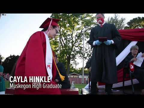 Highlights from Muskegon High School's in-person, socially distanced graduation