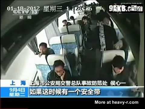Bus Passengers Not Wearing A Seatbelt