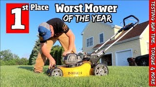 Dewalt- 1st place for the Worst Lawn Mower of the year
