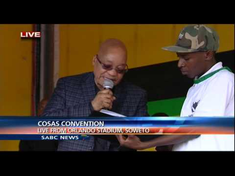 President Zuma addresses the Congress of South African Students