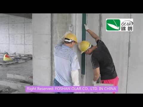 Foshan Olar Co., Ltd Fiber Cement EPS Sandwich Panel installation--Zhuhai Shizimen Project