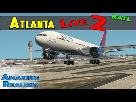 WORLD'S BUSIEST AIRPORT | ATL International Airport with Live ATC  and REAL Airline Flight Schedules