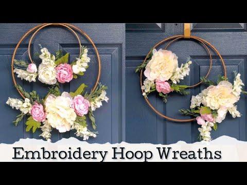 Embroidery Hoop Wreaths | Spring DIY