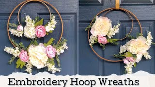 Embroidery Hoop Wreaths | Spring DIY