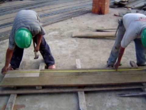 Tp armado de encofrado sobrecimiento youtube - Dintel de madera ...