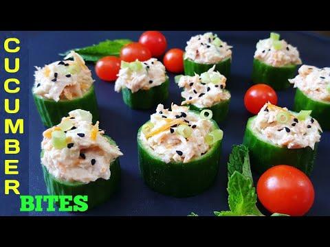 Cucumber Bites Appetizer | Healthy Summer Snacks | Tuna Cucumber Cups