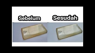 Cara membersihkan atau menghilangkan noda kuning pada silicone case android
