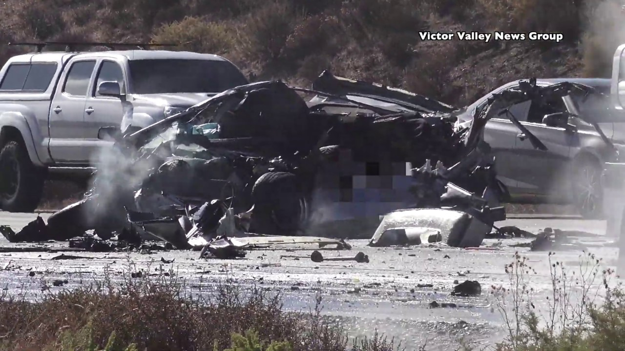Fatal Crash involving tanker truck on 15 freeway in Hesperia