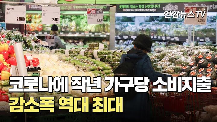코로나에 작년 가구당 소비지출 감소폭 역대 최대 / 연합뉴스TV (YonhapnewsTV)