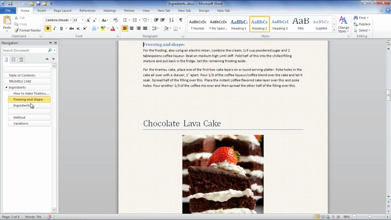 How to use a document map or thumbnails in Microsoft Word 2010 - YouTube