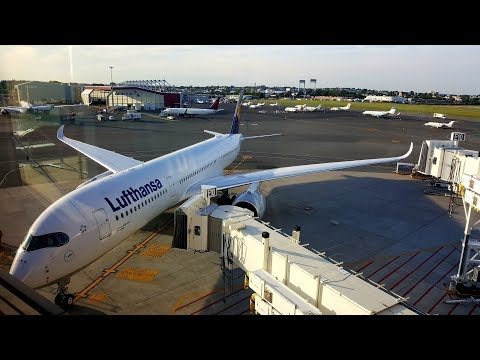 Lufthansa A350 FLIGHT REPORT ✈ Boston - Munich ✈ Premium Economy