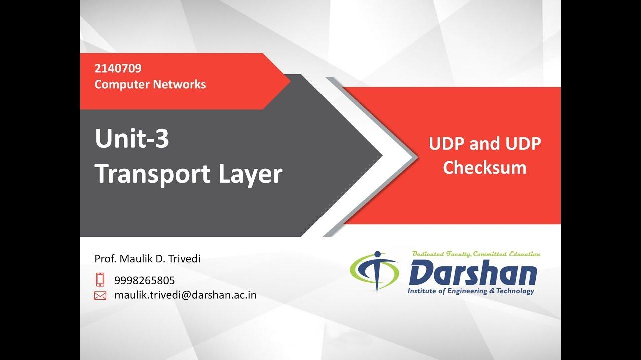 3 04 - UDP and UDP Checksum
