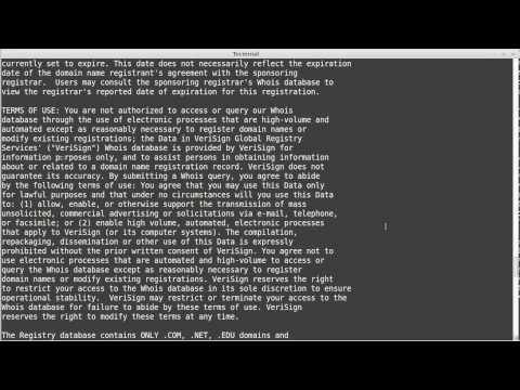 The whois command
