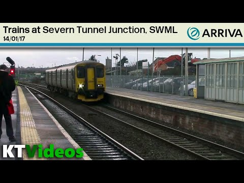Trains at Severn Tunnel Junction, SWML - 14/01/17