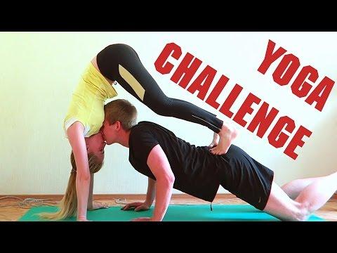 Йога челлендж для двоих фото, легкие и сложные позы, видео
