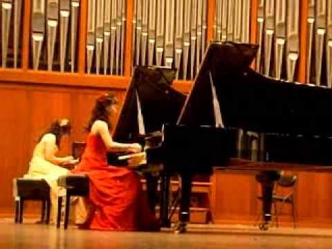 'Rachmaninoff- Russian Rhapsody for two pianos in e minor (part 1)