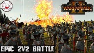 Epic 2v2 Battle - Total War Warhammer 2 - Online Battle 244