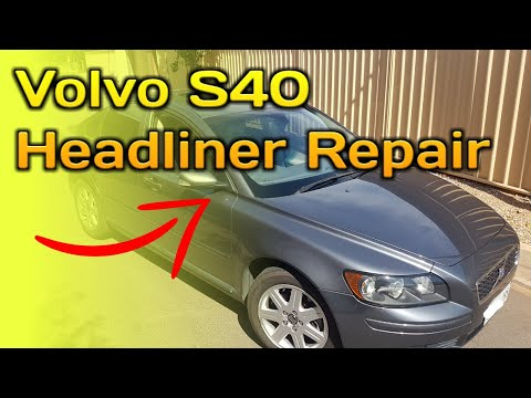 Volvo s40 Sagging Headliner & Sunroof Repair | HOW TO Fix a Roof Liner | Fabric Falling Down