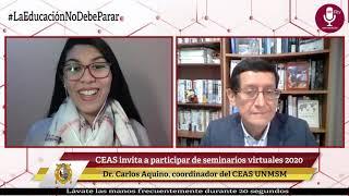 Tema: CEAS invita a participar de seminarios virtuales 2020