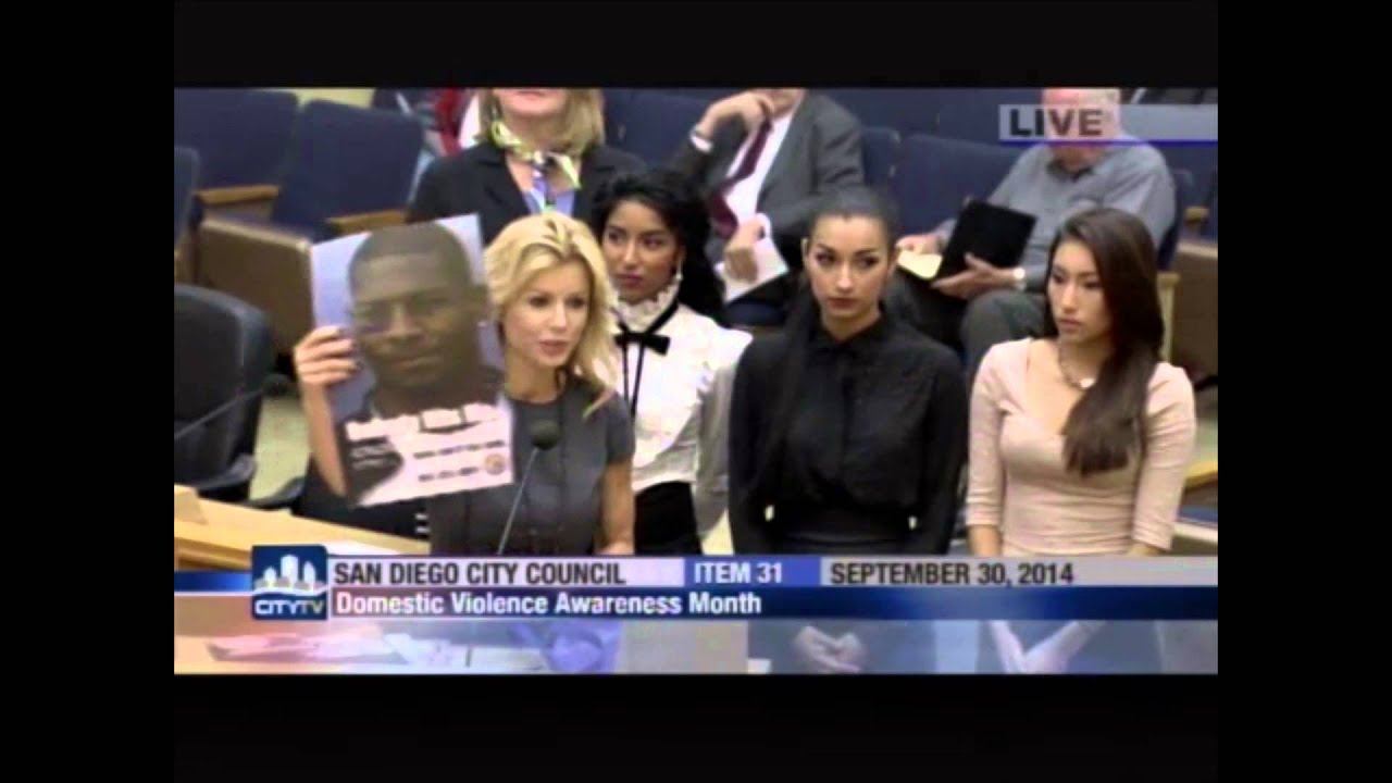 San Diego City Council Meeting on Domestic Violence with ...