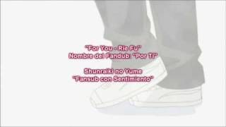Hourou Musuko Ending Subtitulado (For You - Rie Fu) (other languages available)