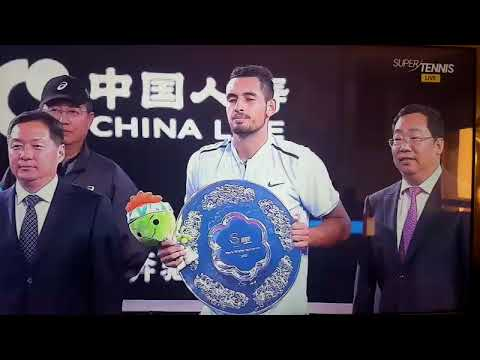Nick Kyrgios e il pupazetto - Tennis, Divertente - Kyrgios Nadal Beijing 2017 Final