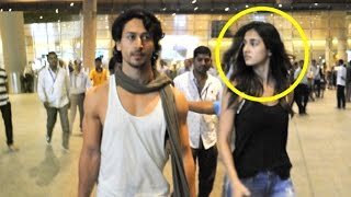 Tiger Shroff With CUTE Girlfriend Disha Pattani Spotted At Airport