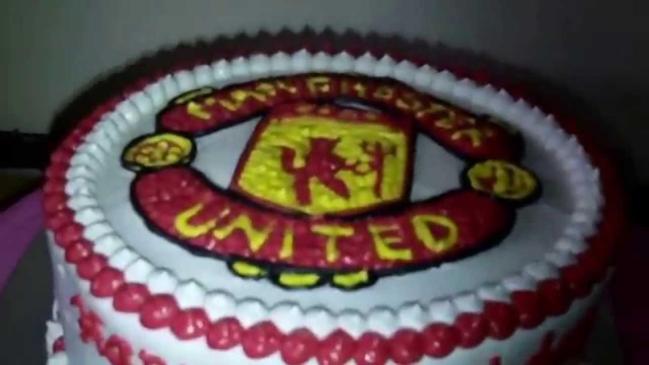 Manchester United Logo Theme Cake